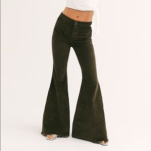 Free People brown corduroy flare size 27